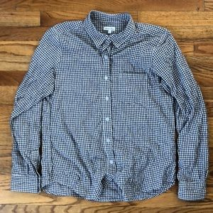 Steven Alan navy checked shirt, medium